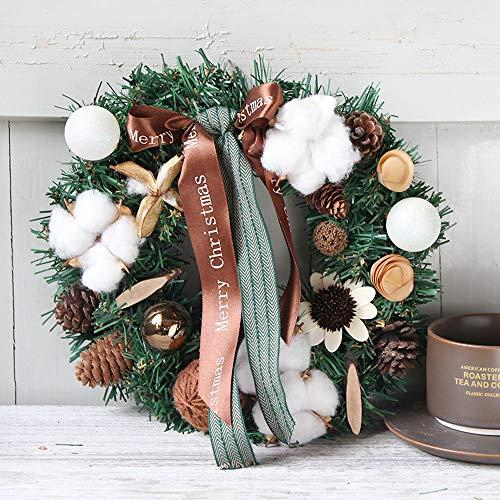 NYLWSL Ciondolo Decorazione Natalizia Americana Corona di Natale Door Restaurant Finestra Grande Illuminato Rattan Regalo Handmade dell'albero di Natale Hanging