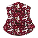 Xebcivso Bull Terrier Christmas Holiday Presents Candy Canes Winter Snowflakes...