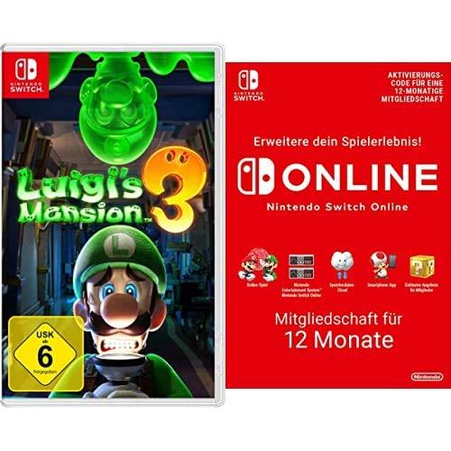Nintendo Luigi's Mansion 3 - [Nintendo Switch] + Nintendo Switch Online Mitgliedschaft - 12 Monate   Switch Download Code