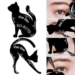 Ofertas Tienda de maquillaje: Se pueden utilizar para dar forma a las cejas y para aplicar sombra de ojos. Es la última tendencia en definición y modelado de cejas. Tamaño: 70 - 87 mm/76 - 87 mm. Producto de alta calidad. El paquete incluye: 2x plantillas línea de gato.
