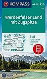 KOMPASS Wanderkarte Werdenfelser Land mit Zugspitze: 3in1 Wanderkarte 1:25000 mit Aktiv Guide inklusive Karte zur offline Verwendung in der ... Langlaufen. (KOMPASS-Wanderkarten, Band 7)