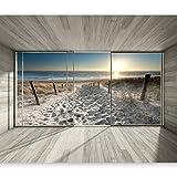 murando Carta da parati 400x280 cm Fotomurali in TNT Murale alla moda Decorazione da Muro XXL Poster Gigante Design Carta per pareti Naturaleza Paesaggio Spiaggia 3D Mare Sole c-C-0067-a-d