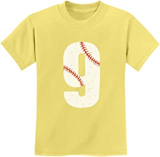 Tstars - 9th Birthday Gift for Nine Year Old Baseball Fan Youth Kids T-Shirt