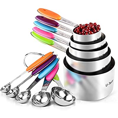 U-Taste Measuring Cups and Spoons Set (10 Pieces)
