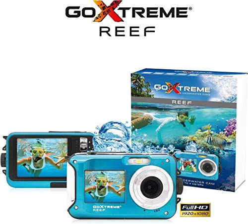 Compatible with The GoExtreme Reef Action Camera Navitech 60-in-1 Action Camera Accessories Combo Kit with EVA Case