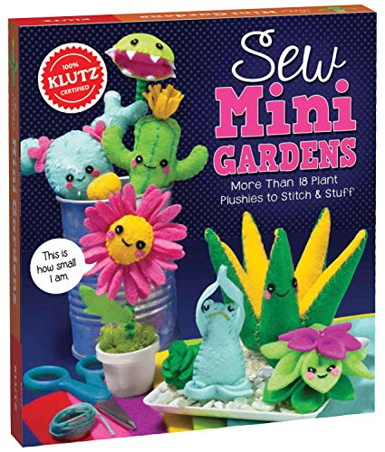 Klutz Sew Mini Gardens Sewing Kit
