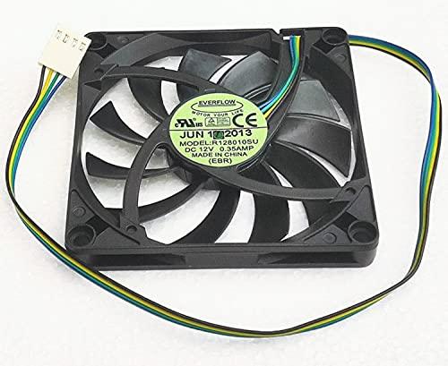 New slim 8CM 8010 Fan 4-wire R128010SU DC12V 0.35A pwm cooling fan