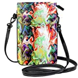 XCNGG bolso del teléfono Art Abstract Watercolor Cell Phone Purse Wallet for Women Girl Small Crossbody Purse Bags