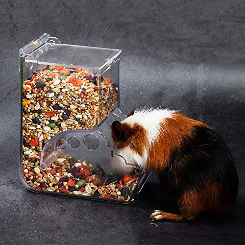 Gifty 自動給餌器 ハムスター 餌入れ アクリル 小動物 エサ 食器 固定式 ハリネズミ フード 餌やり リス モルモット フェレット 給餌 自動 鳥 小鳥 給餌器