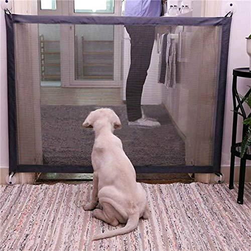 Haustier Hund Zäune tragbare Falten Sicheres Schutz Sicherheit Tür Magic Gate for Hunde Katzen-Haustier, Größe: 180cm x72cm Huangchuxin (Color : Beige)