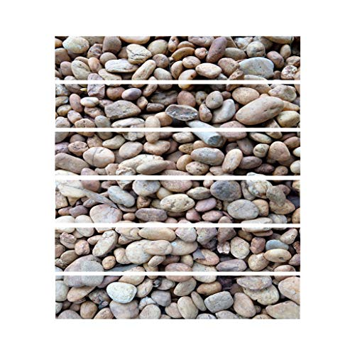 MIAOJI Pegatina para escaleras, 6 Piezas con patrón de Piedra, Azulejos, Suelo, escaleras, baño, Cocina, decoración, Impermeable, Pegatina de Pared, calcomanías para escaleras, Arte WAL