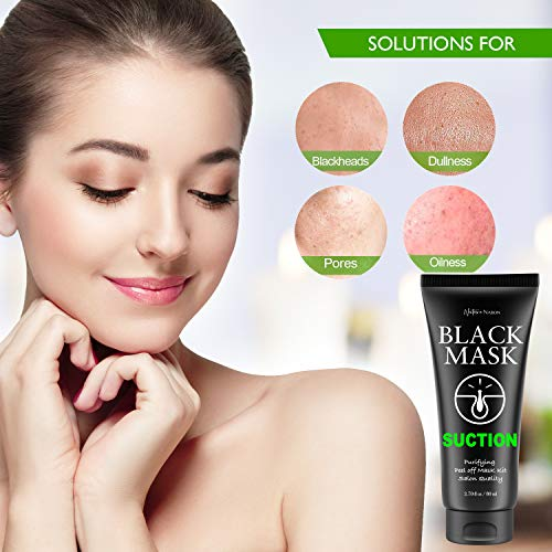 Blackhead Remover Mask Valuable 3-in-1 Kit Nature Nation Purifying Peel Off Mask, With 5 Blackhead & Pimple Comedone Extractors and Silicone Brush, Deep Cleansing Blackheads Removal Mask Kit