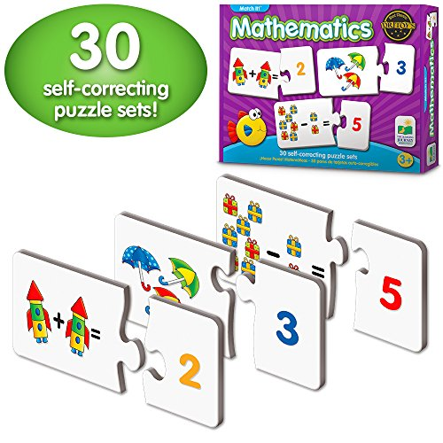 The Learning Journey Match It! Mathematics - STEM Addition and Subtraction Game - Helps to Teach Early Math Facts with 30 Matching Pairs - Preschool Games & Gifts for Boys & Girls Ages 3 and Up