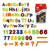 SIMUER 80PCS Letras magnéticas y números, Alfabeto imanes de Nevera niños Aprendizaje Juguetes educativos Incluye mayúsculas, minúsculas y símbolos matemáticos