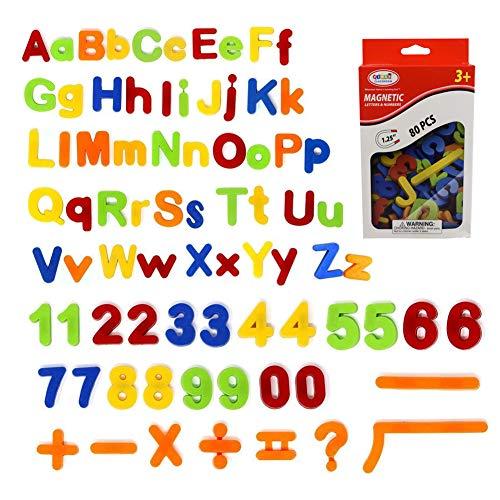 SIMUER 80PCS Letras magnéticas y números, Alfabeto imanes de ...