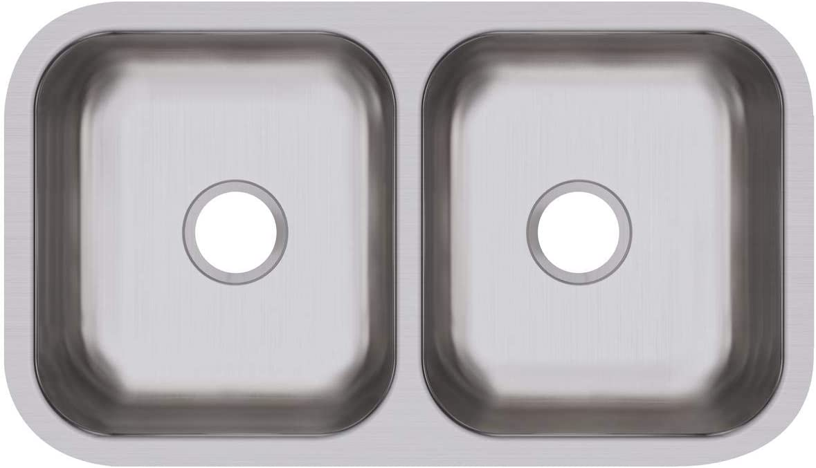 Dayton DCFU3118 Equal Double Bowl Steel Shipping included Sin Regular discount Stainless Undermount