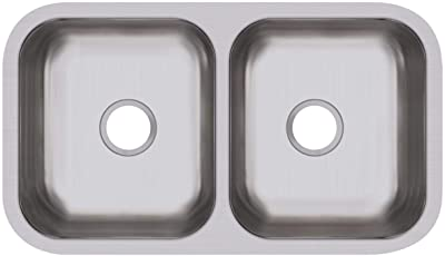 Dayton DCFU3118 Equal Double Bowl Undermount Stainless Steel Sink