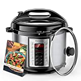 Elechomes Electric Pressure Cooker 6 Qt with Stainless Steel Inner Pot 9-in-1 Crock Pot Multi-use Programmable...