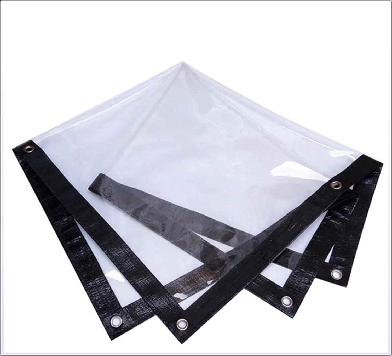 Waterproof Tarpaulin  Balcony Transparent Cloth Camping Waterproof Tarpaulin Transparent PVC Sunscreen Cloth, a Variety of Sizes,100  70CM