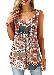Sleeveless Style: Button up, ruffle, Solid color / Printed Designs: comfy, cute, its loose flowy style and breathable fabric make it chic Fabric: Super soft,stretchy and light weight. Occasions: perfect for spring,autumn or summer,easy to pair with j...