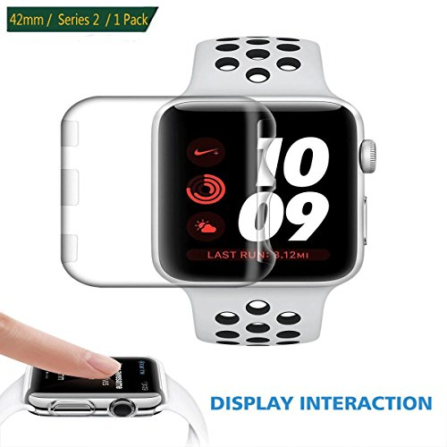 ZECEEN Compatible Screen Protector | Plastic Protective Cover | Clear Defender | Thin Accessories Bumper Replacement for Apple Watch/iwatch 42mm Series 2 3