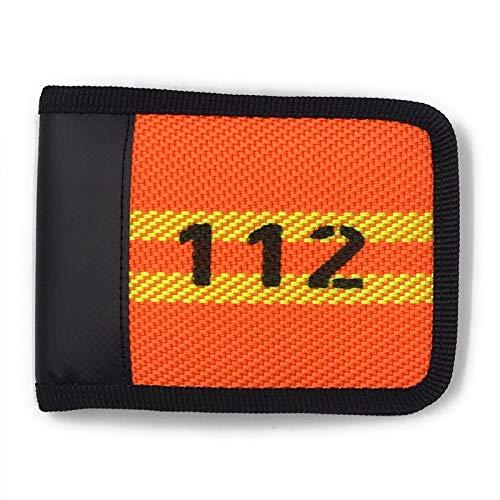Geldbörse Portemonnaie aus Feuerwehrschlauch Neon Orange Geldtasche Geldbeutel