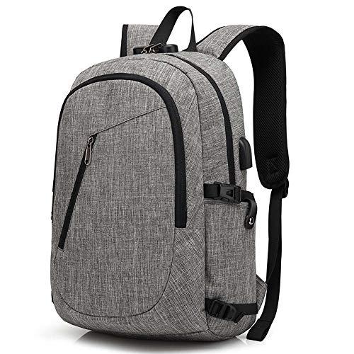 Laptop-Rucksack mit USB-Ladeanschluss 17,3 Zoll Leicht Business Daypack Backpack Anti-Diebstahl Laptop Taschen Wasserdichte Schulrucksack für die Schule draussen Reise Wochenende Unsex