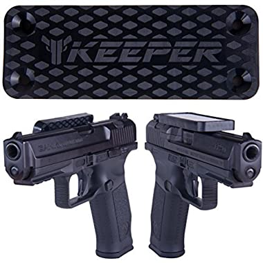 Magnetic Gun Mount & Holster for Vehicle and Home - HQ Rubber Coated 35 Lbs - Gun Magnet Firearm Accessories. Concealed Holder for Handgun, Rifle, Shotgun, Pistol, Revolver, Truck, Car, Wall, Safe