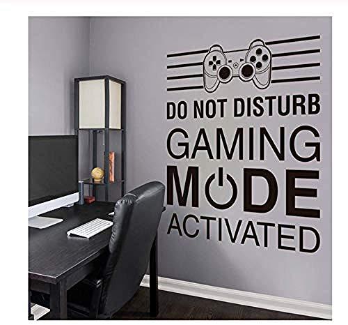 Wandbild Große Spielzone Wandbild Wandtattoo für Home Gaming Room Controller Video Game Boy Schlafzimmer Dekor Spiel Wandbild 67X57 Cm