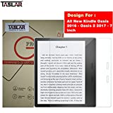 TASLAR Tempered Glass Screen Scratch Guard Protector for All New Kindle Oasis 2016 - Oasis 2 2017-7 inch