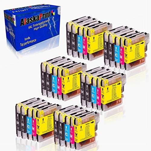 Alaskaprint 30x Tintenpatronen Kompatibel für Brother LC1000 LC-1000 XL für DCP-130C 135C 150C 155C 330C 350C 540CN 560CN 750CW 770CW dcp 135c patronen MFC -230C 235C 440CN 465CN 660CN 665CW345CW