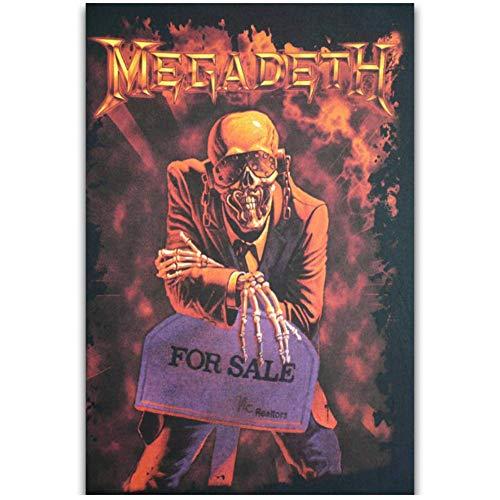 NRRTBWDHL Megadeth Rock Music Band Sänger Star Album Cover Kunst Poster Leinwand Malerei Wohnkultur Poster und Drucke -50x70cm Kein Rahmen