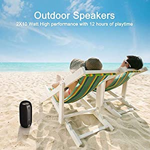 Bluetooth Speaker Portable Wireless Speaker Loud 360° Stereo Sound