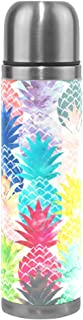 Thermos 17.5oz Customized Hawaiian Pineapple Vacuum Insulated Stainless Steel Water Bottle