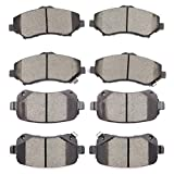 SCITOO Ceramic Brake Pad Front Rear Set fit for 2008-2012 for Chrysler Town & Country, 2008-2012 for Dodge Grand Caravan, 2009-2013 for Dodge Journey, 2012 for Ram C/V, 2009-2012 for VW Routan