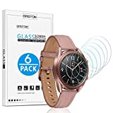 [6 Pack] OMOTON Screen Protector for Samsung Galaxy Watch 4 Classic (42mm) /Galaxy Watch (42mm)/ Galaxy Watch 3 (41mm) - Tempered Glass Screen Protector [Full Coverage] [Bubble Free] [Scratch Resistant]