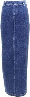 hardtail long denim skirt