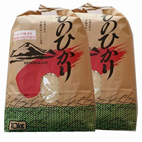 令和2年 熊本県 球磨地方産 白米 ひのひかり 10kg×2袋(20kg 業務用)