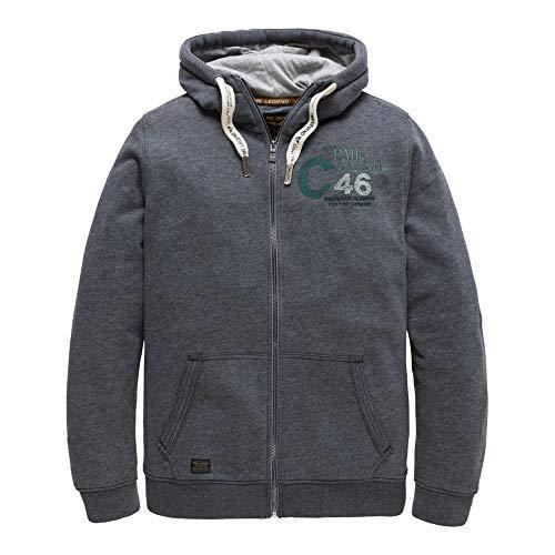 PME Legend Hooded Jacket Brushed Falcon - Sweatjacke, Größe_Bekleidung:M, Farbe:Salute