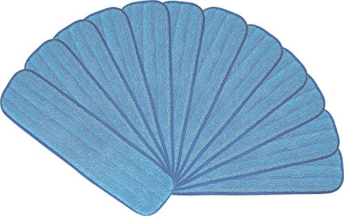"18"" Microfiber Mop Pads - Hook and Loop, Washable, Wet/Dry : 12 Pack"