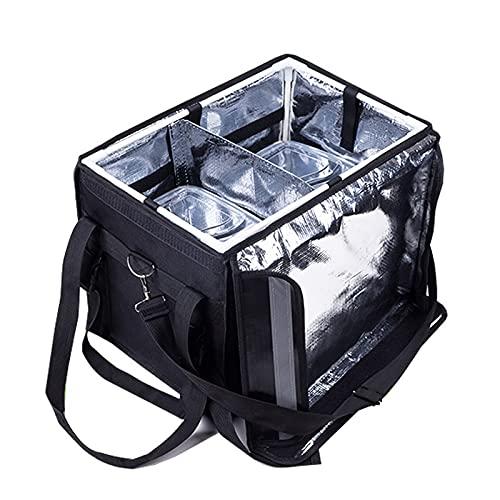 SXBF Bolsa Térmica Extra Grande para Alimentos de 48 L, Bolsa Refrigeradora, Caja Cuadrada para Refrigerador, Alimentos Frescos para Kebabs Indios, Pizza para Restaurantes, Mensajeros