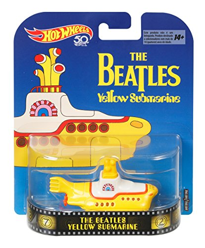 Hot Wheels Beatles Yellow Submarine, 1:64 Scale