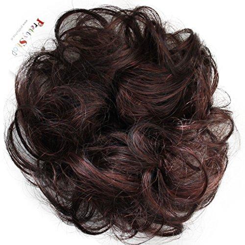 PRETTYSHOP 100% ECHTHAAR Haargummi Haarteil Haarverdichtung Zopf Haarband Haarschmuck Schwarz Rotbraun Mix H312e