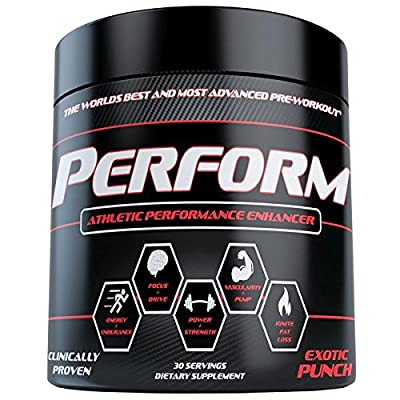 PERFORM Pre Workout The Best Pre Workout Supplements for Energy, Endurance, Strength, Power, Fat Loss & Pump! The Top Pre-workout of 2016!