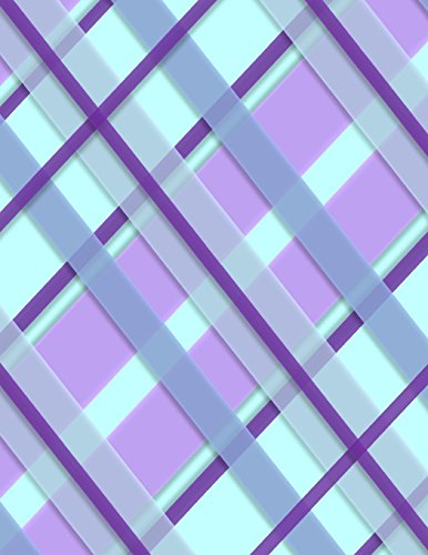 Purple Plaid Notebook: 8.5 X 11 202 College Ruled Pages
