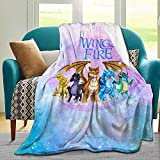 Wings Of Fi-re Jade Winglet Blanket Ultra Soft Flannel Micro Fleece Blankets Throw Cozy Lightweight fuzzy Plush Warm Quilt For Living Room Bedroom couch Bed 50'X40' Kids Gift Adults Bedding All-Season