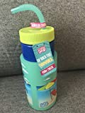 COOL GEAR 32oz Throwback Retro Water Bottle with Large Coozie SURF Hang Loose
