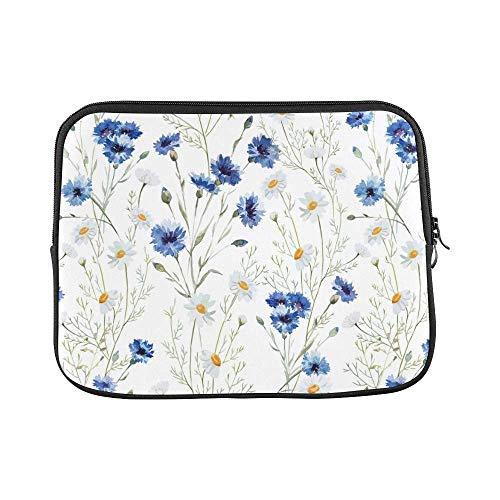 InterestPrint Spring Blooms Flower Wildflowers Cornflowers Daisies Waterproof Neoprene 13 13.3 Inch MacBook Air/Pro Sleeve Case Bag for Dell HP Lenovo Thinkpad Acer Tablet Woman Man