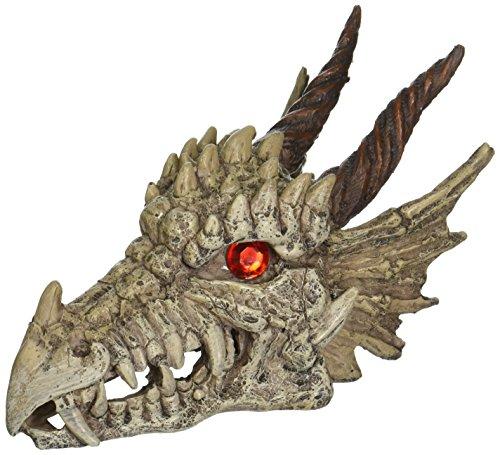 Penn-Plax RR1207 Ornamento de aquário Dragon Skull Gazer - Disponível em 2 tamanhos para qualquer regata, grande