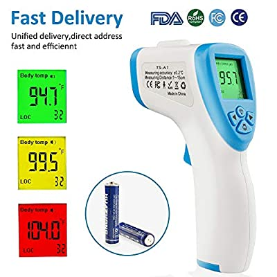 Infrared Digital Medical Thermometer, FDA/CE Approved Most Accurate Forehead Thermometer, Non-Contact 32 Group Data for Kids Adult Home School Office Hospital